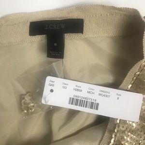J. Crew Skirts - J Crew Gold Sequin Bling Mini Skirt, Lined 8 NWT